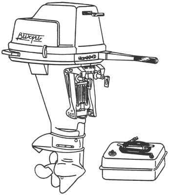 Вихрь-30, Вихрь-25. Общий вид мотора с баком