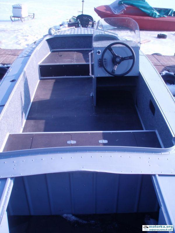 как заделать трещину в лодке казанке
