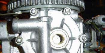заливка масла в редуктор ветерок 8