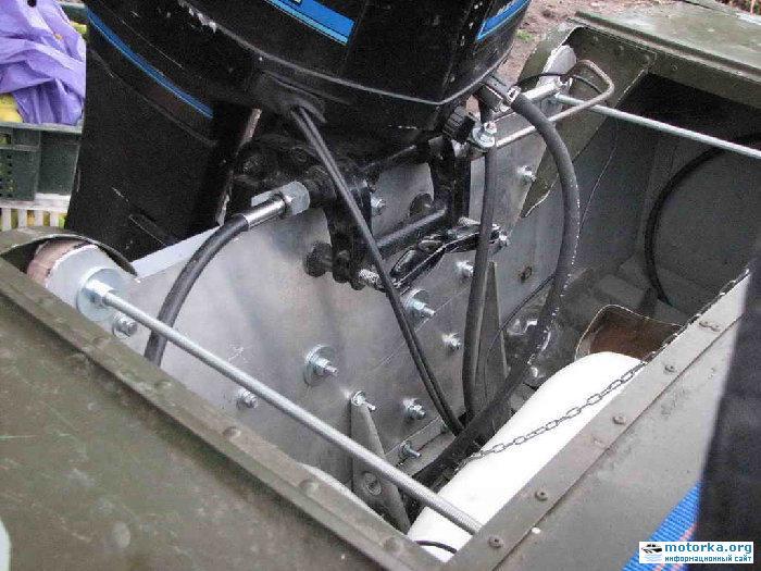 можно ли установить мотор на лодку без транца