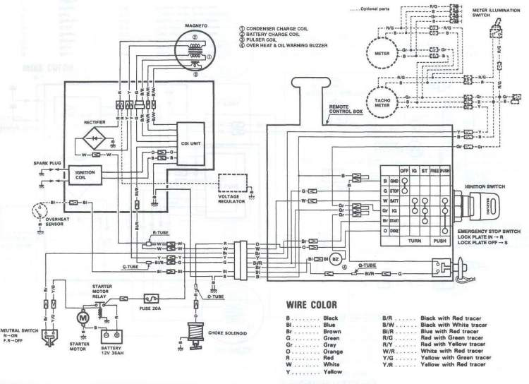 Электрическая схема Suzuki