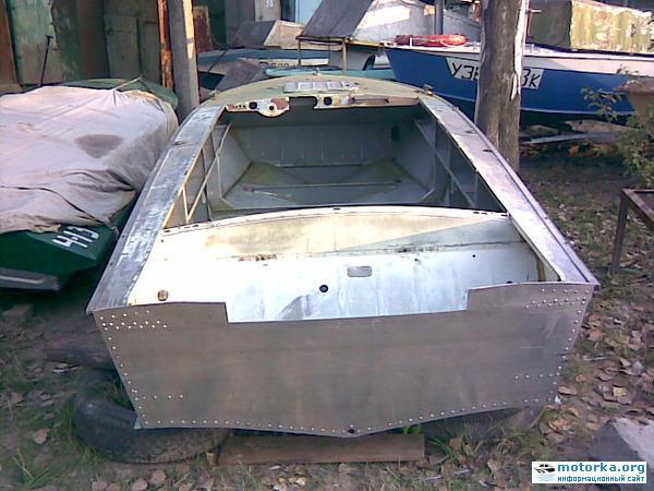 ремонт киля лодка прогресс