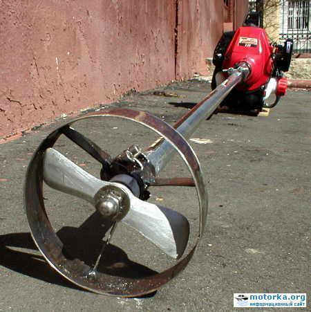 Винт для мотора из газонокосилки