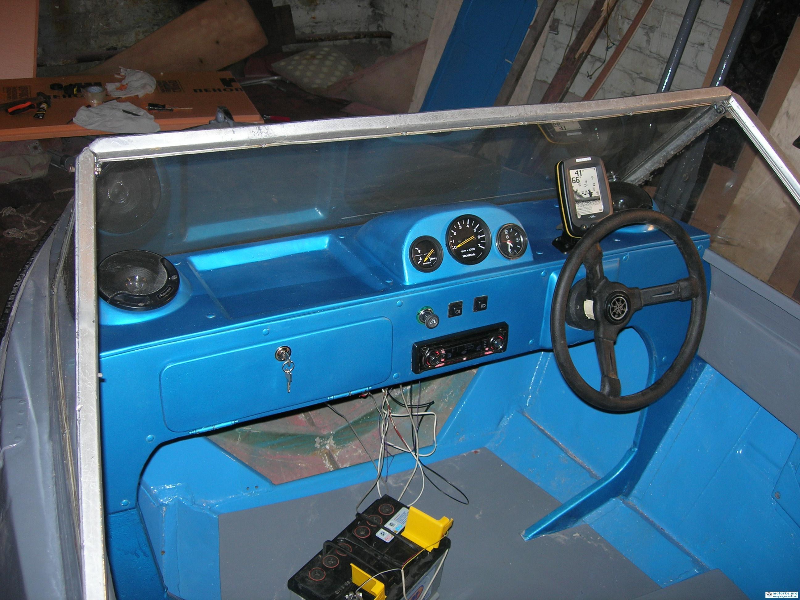 Приборная панель катера своими руками 99
