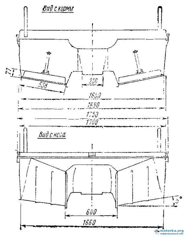 чертеж прицепа под лодку пвх