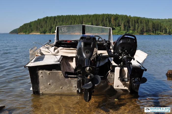 выносной транец на алюминиевую лодку