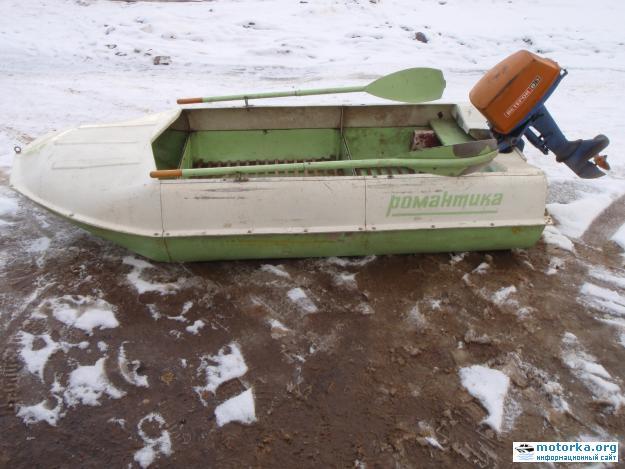 мотор Ветерок-8Э на лодке Романтика