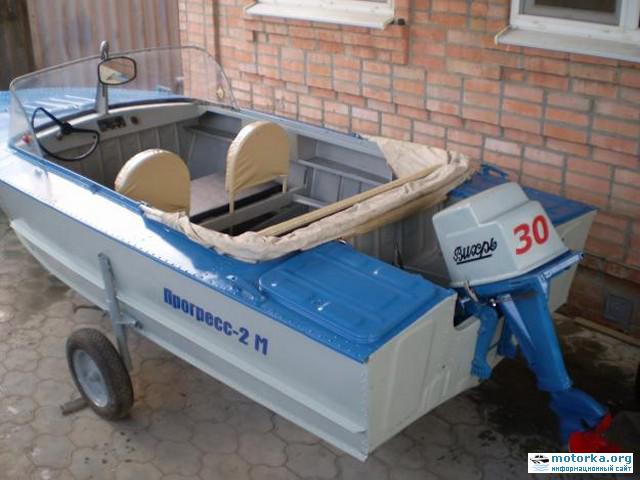 Вид кормовой части лодки Прогресс-2М