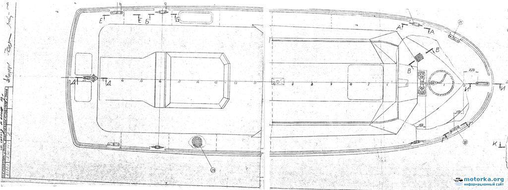 Чертежи катера Орлан