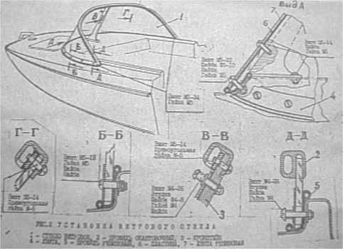 Казанка–5М2. Установка ветрового стекла