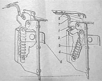 Казанка–5М2. Замок крышки носового багажника
