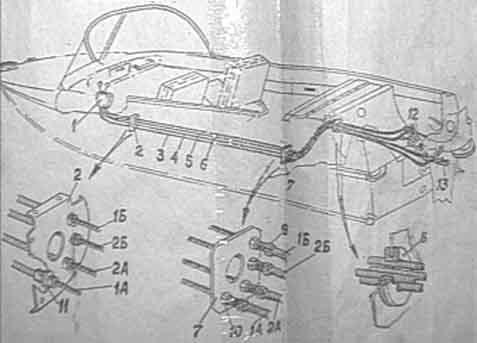 Казанка-5М2. Монтаж дистанционного управления реверсом и газом