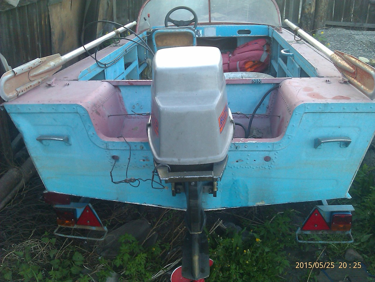 транец лодки Южанка-2