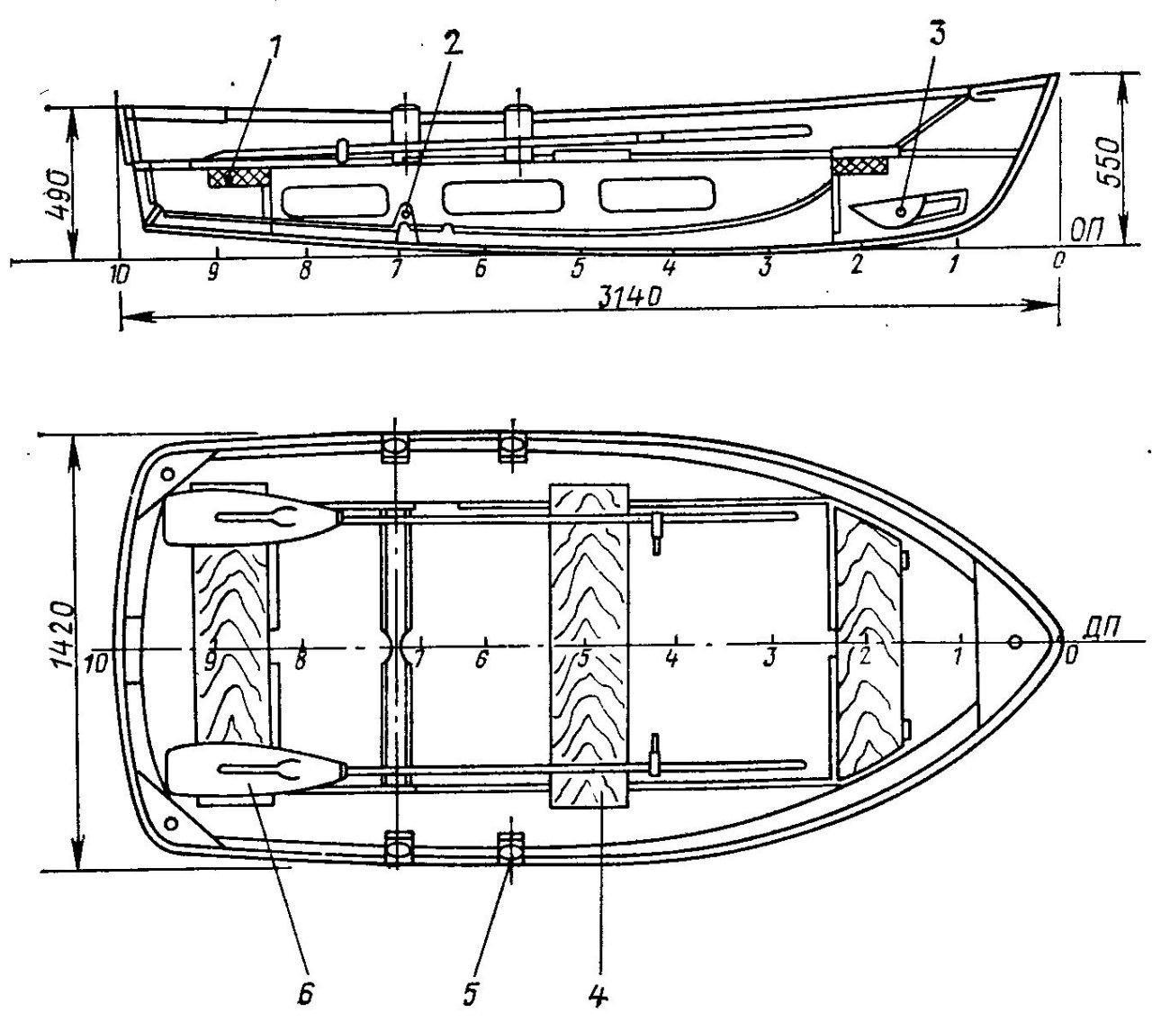 Упор для лодки чертежи размеры