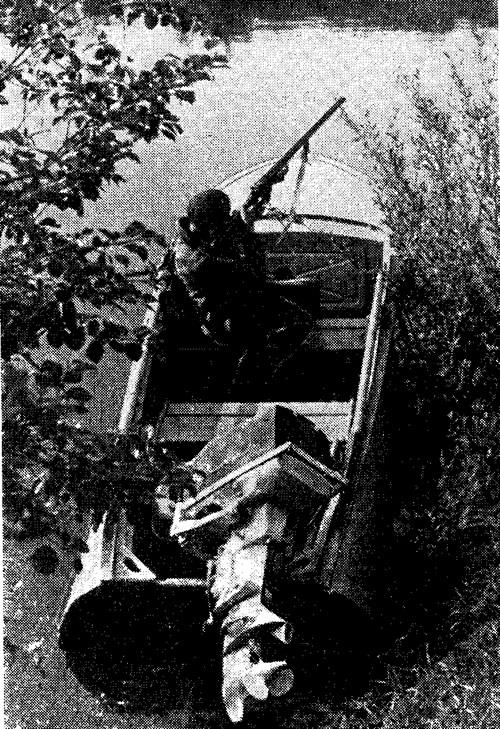 мотор Москва-25 на лодке