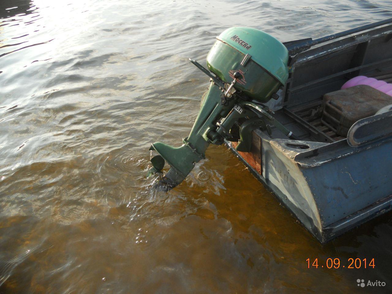 Мотор Москва на лодке Казанка