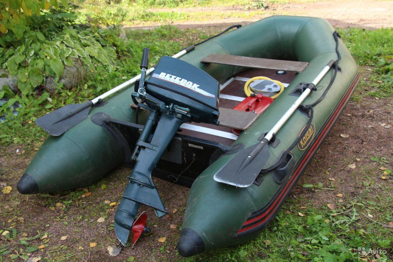 мотор Ветерок-12 на лодке