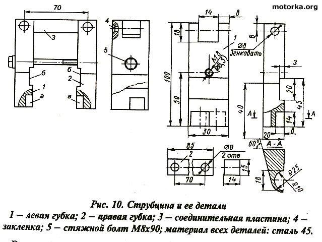 Ремонт двигателя мотора «Вихрь».  Приспособления для удержания коленвала
