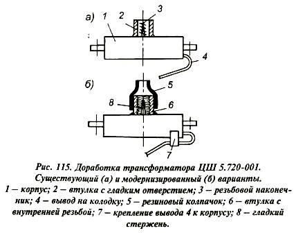 Повышение надежности трансформатора ЦШ