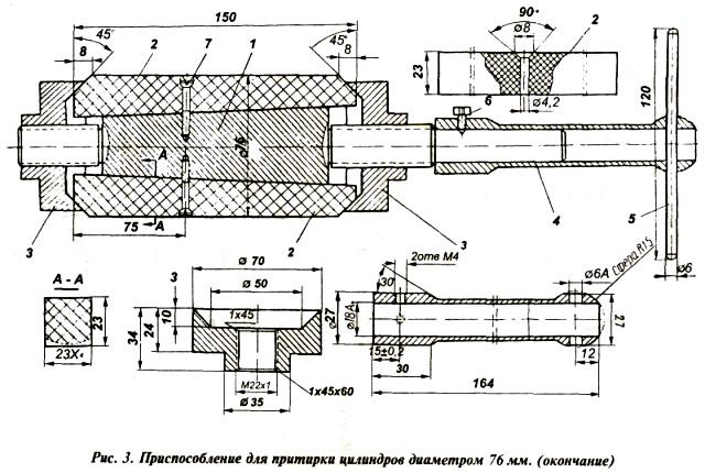 Ремонт двигателя мотора «Вихрь». Шлифовка и притирка цилиндров.