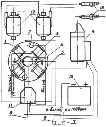 Вихрь-30, Вихрь-25. Схема электрооборудования