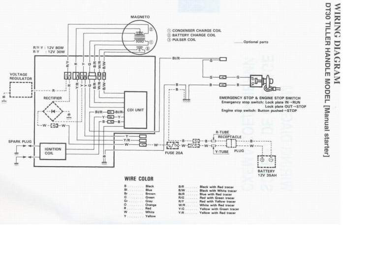 Электрическая схема Suzuki DT30