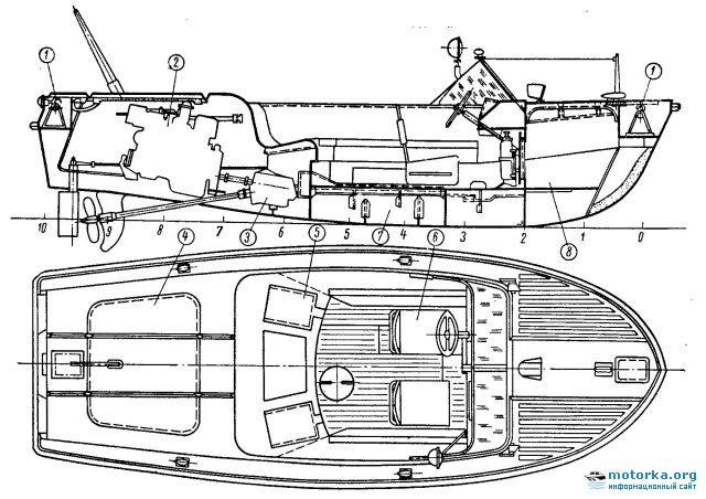 Общее расположение катера Чирок
