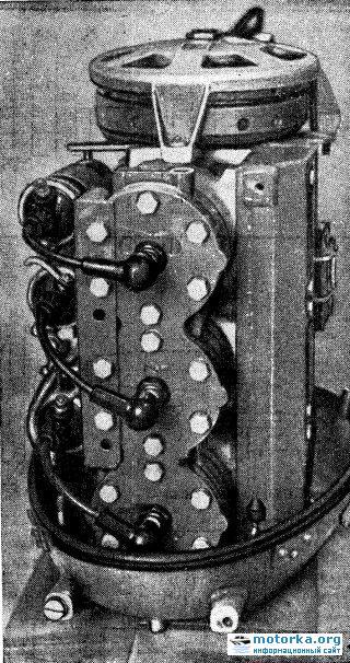 Вид  трех цилиндрового двигателя Вихрь