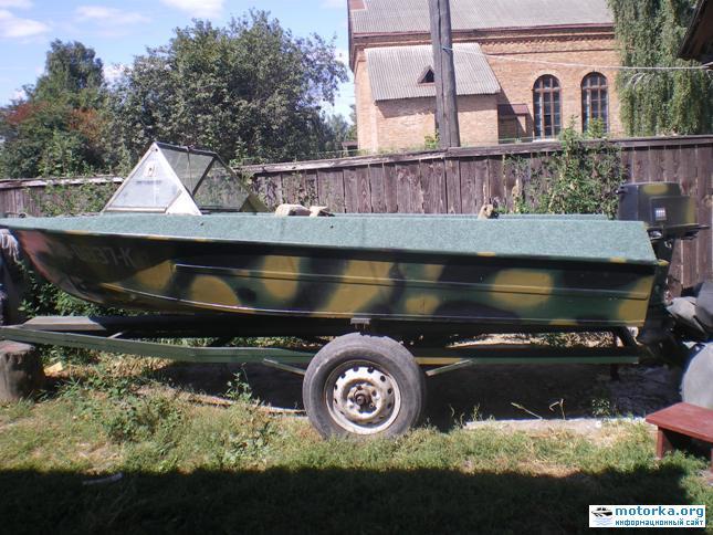 лодка Крым на прицепе