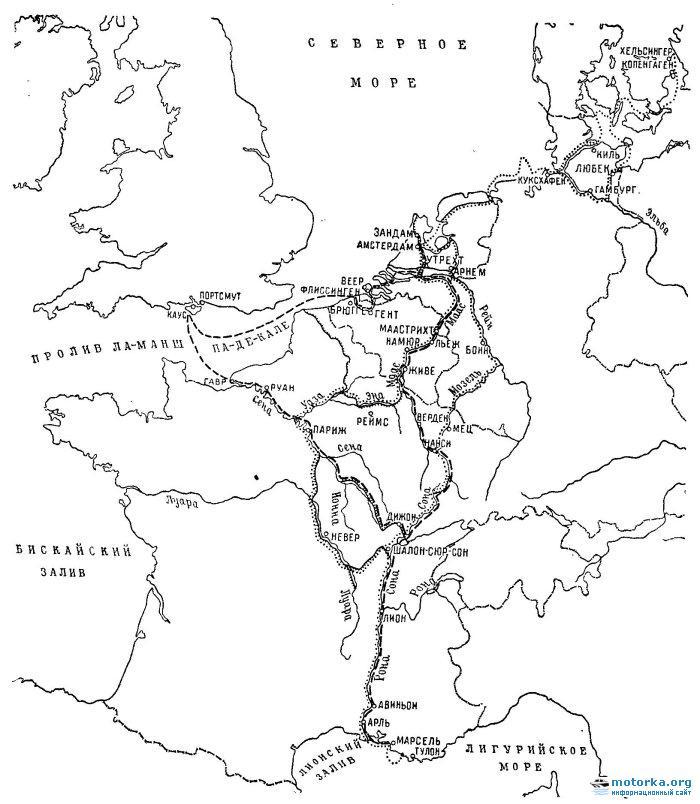 Карта. На яхте по Европе