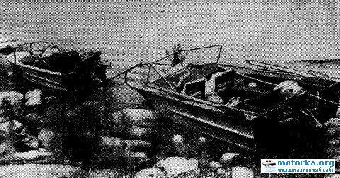 По Байкалу на моторных лодках (август 1973)