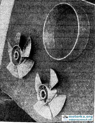 Рабочие колеса водомета катера