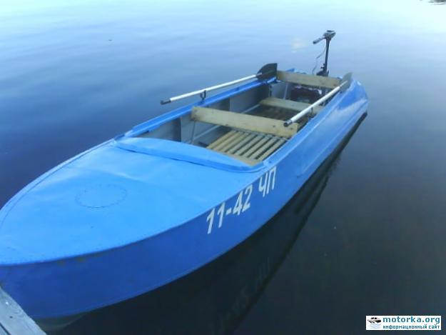 лодка Казанка с электромотором