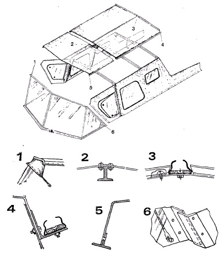 Устройство рубки со сдвижной носовой частью крыши на Казанке-5