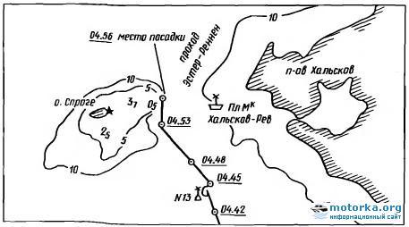 Схема посадки на мель танкера Пятидесятилетие Советской Грузии