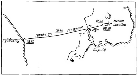 Схема посадки на мель парома Северодвинск