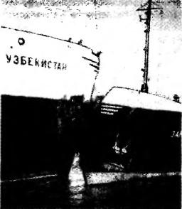 Столкновение теплоходов Советский Узбекистан и Зангелан