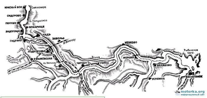 карта сплава