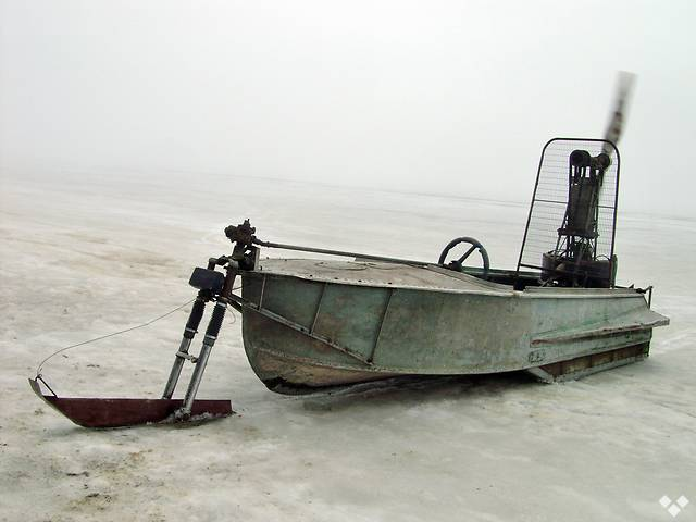 Аэросани из лодки Казанка