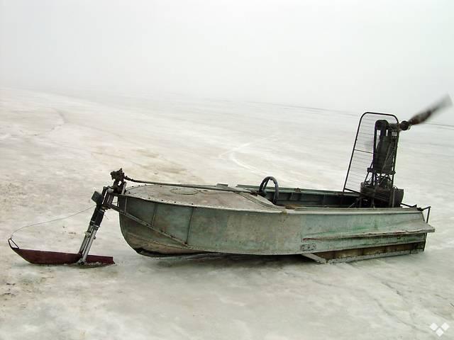 Аэросани из лодки Южанка