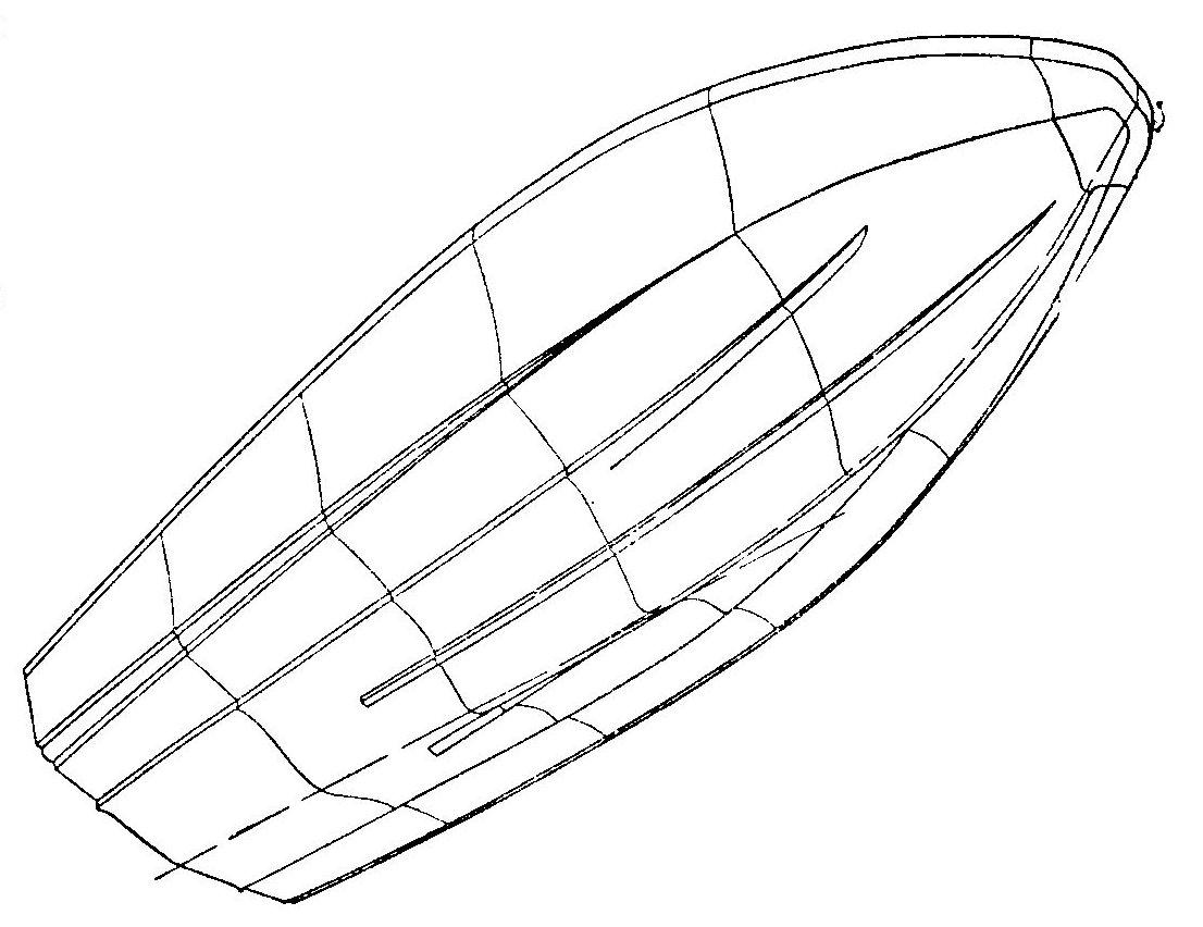 Схема обводов мотолодки Нептун