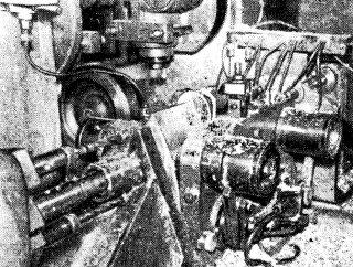Обработка дейдвуда мотора Привет-22 на многошпиндельном станке