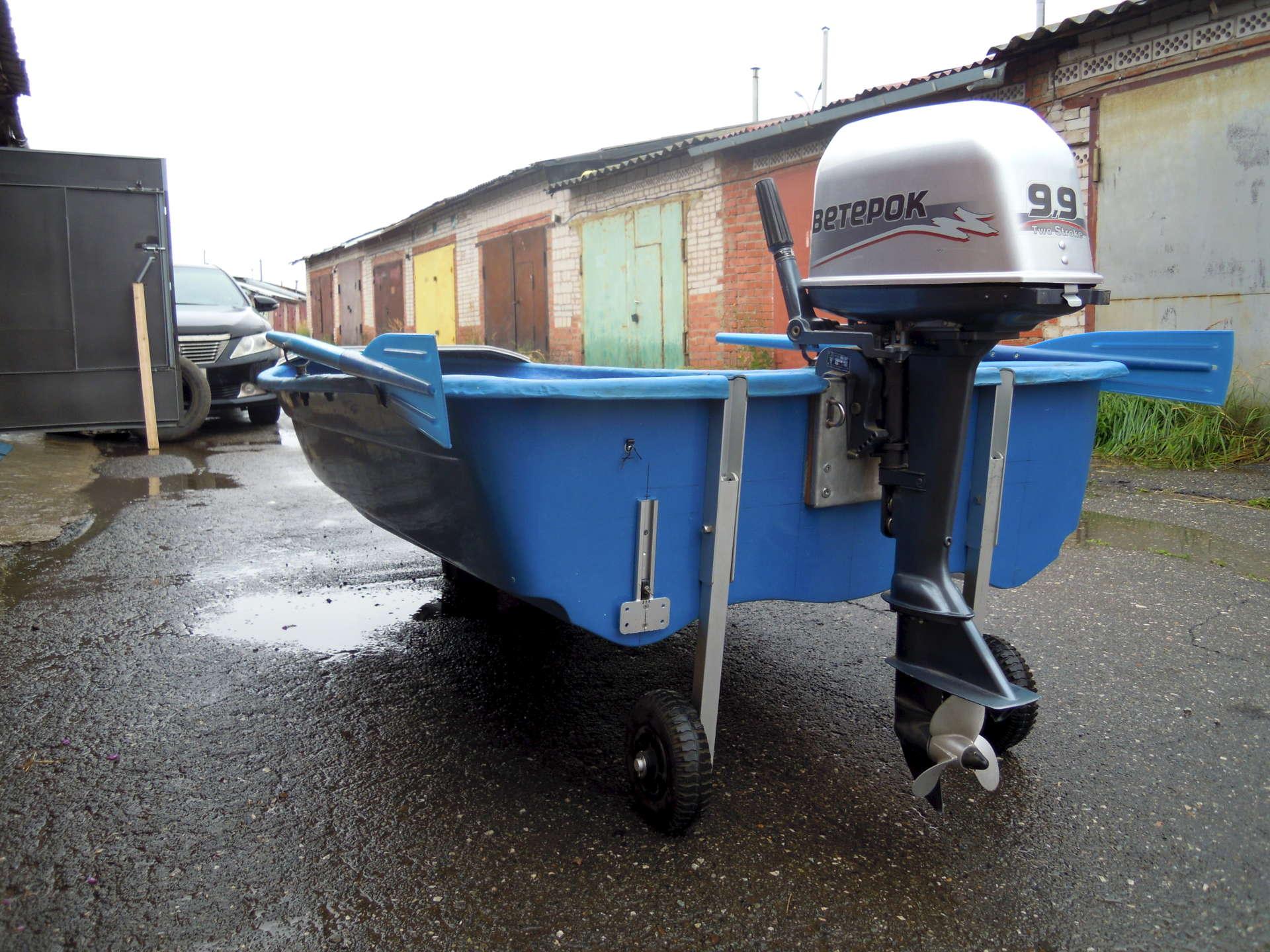 мотор Ветерок-9.9 на лодке